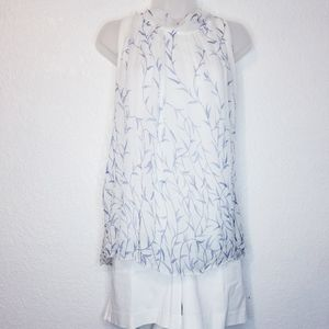 Anthropologie Elena Baldi silk sleeveless blouse
